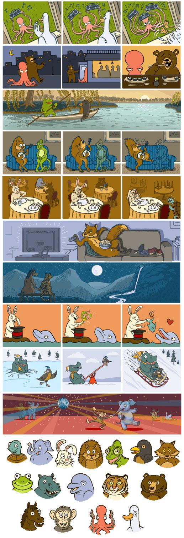 google doodle recopilacion imagenes san valentin