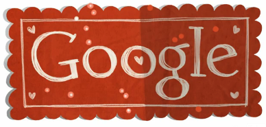 san valentin google doodle 2012