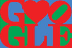 san valentin google doodle robert indiana 2012