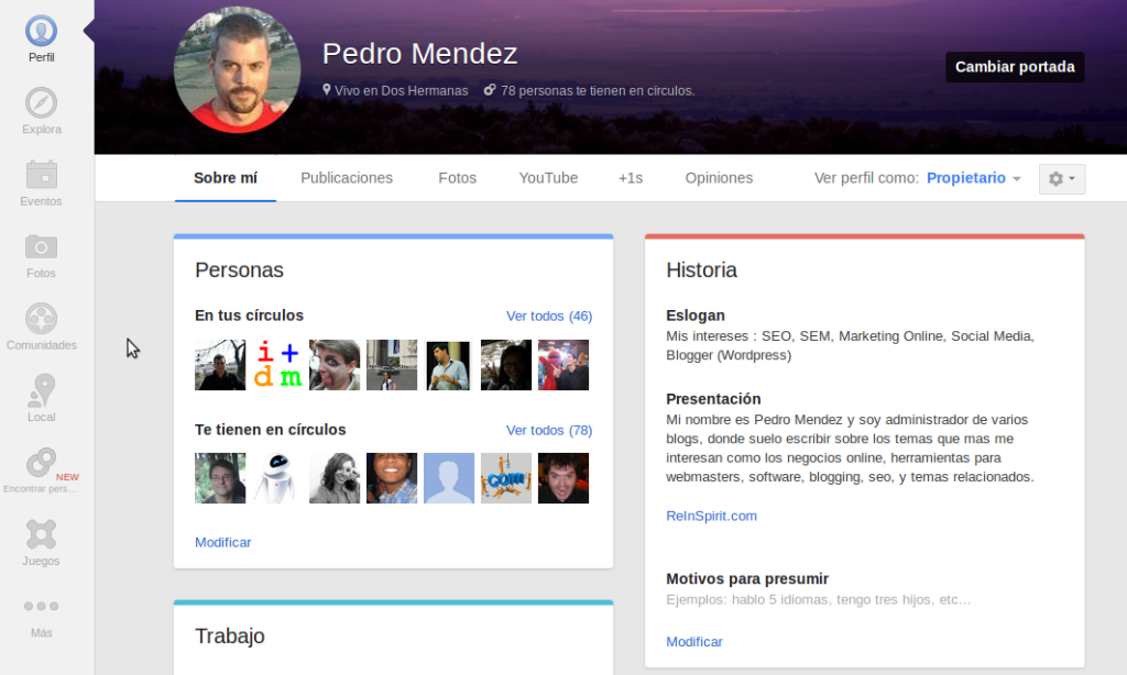 perfil google plus