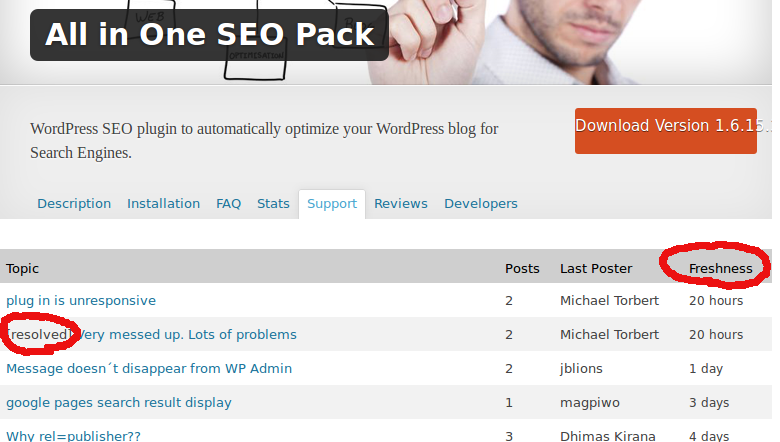 soporte all in one seo pack