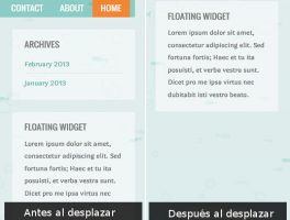 Como crear un widget flotante en el sidebar de WordPress