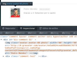 Mostrar imagenes redondas en los comentarios de WordPress