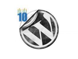 La histora visual de WordPress en diez años