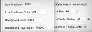 iconos redes sociales configuracion