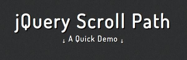 jQuery Scroll Path