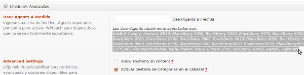 user agents wptouch
