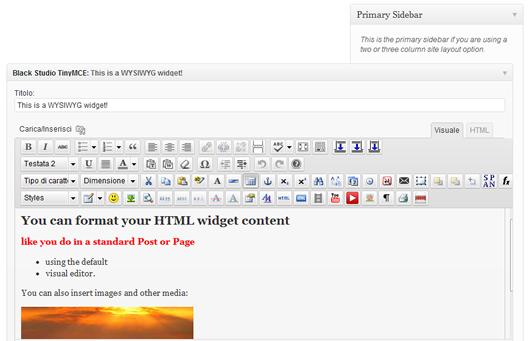 zona widget editor