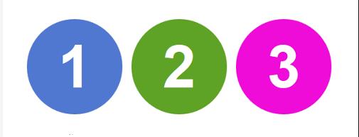 circulos numeros colores