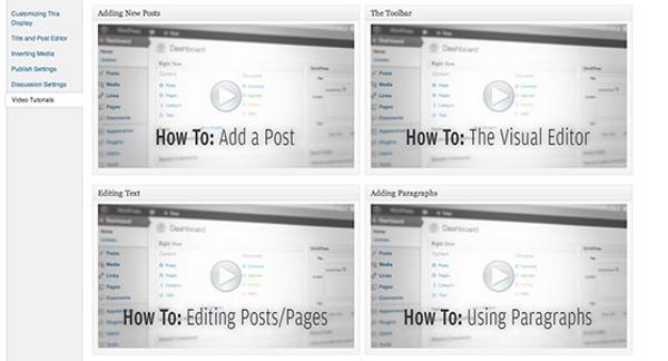 videos integrados panel admin