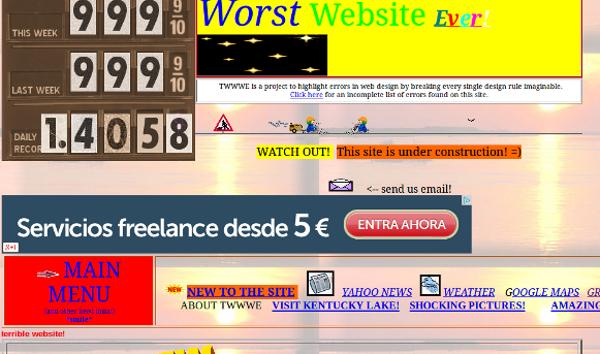 web retro cutre