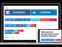Botones compartir en redes sociales responsive