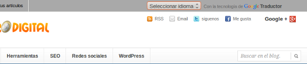 google traductor tabulado arriba