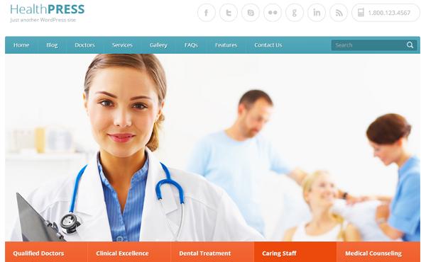 20 mejores Temas Wordpress Responsive de Medicina para Médicos 2018