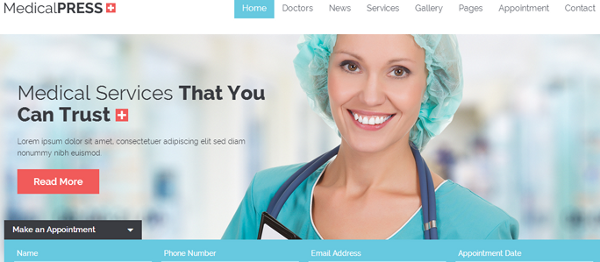 theme wordpress medico
