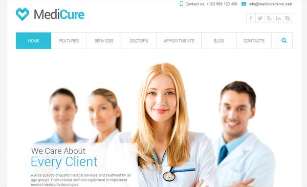 20 mejores temas Wordpress responsive de medicina para médicos
