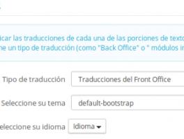 Como solucionar el error en las traducciones de Prestashop