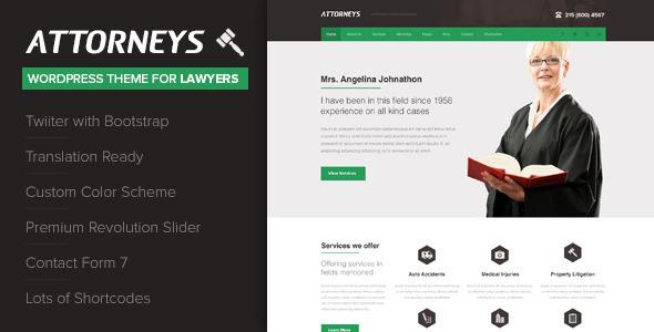 Los mejores themes Wordpress para abogados y asesorias juridicas