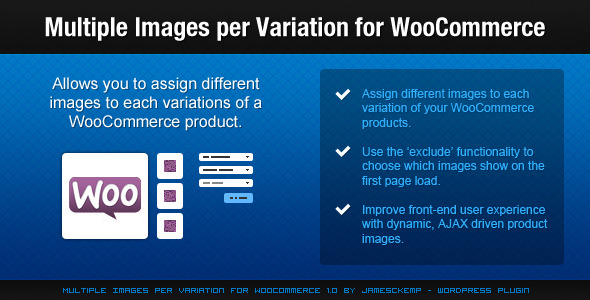 Multiple Images per Variation for WooCommerce