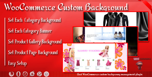 WooCommerce Custom Background and Banner