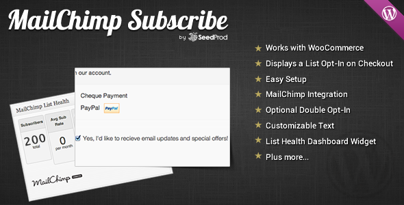 WooCommerce MailChimp Subscribe