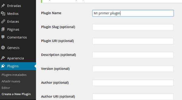 Plugin para crear un nuevo plugin de forma facil en WordPress