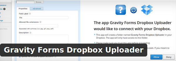 Gravity Forms Dropbox Uploader