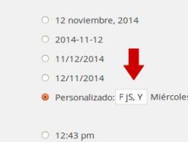 Como mostrar la hora en el formato de fechas de WordPress