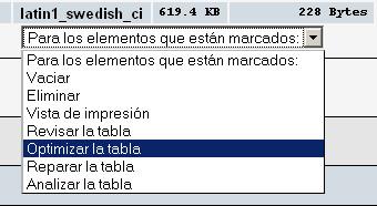 optimizar la tablas
