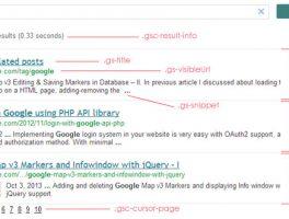Como cambiar los estilos de Google CSE con CSS