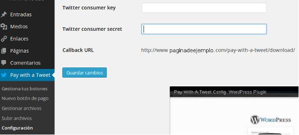 paga con un tweet configuracion