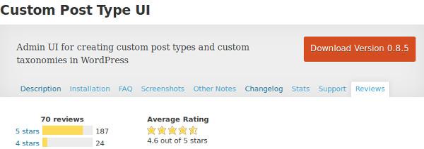 plugin Custom Post Type UI