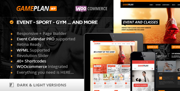 Gameplan - Event and Gym Fitness WordPress Theme