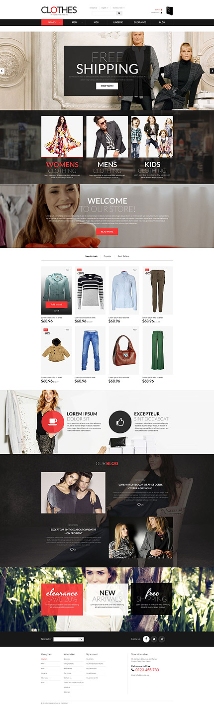 Brand Clothes PrestaShop Theme
