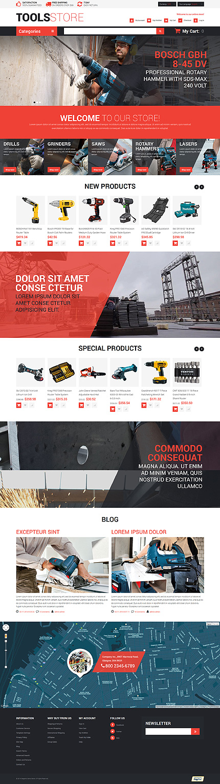 Professional Contractors Tools Magento Theme