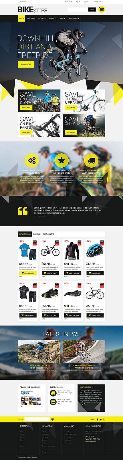 Bike Store PrestaShop Theme