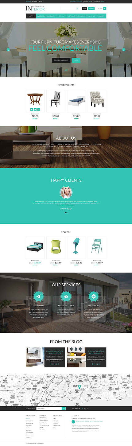 Interior & Furniture Responsive Magento Theme