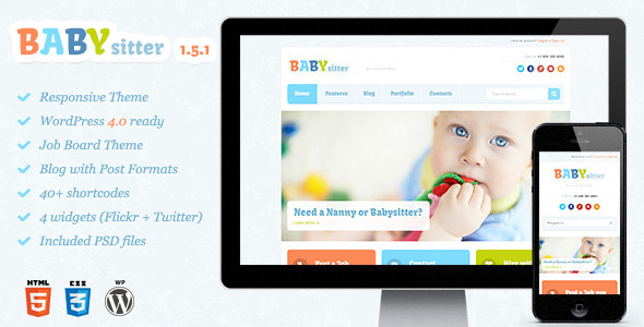 babysitter tema wordpress