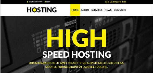Hosting Solutions WordPress Theme