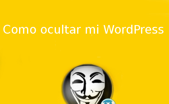 ocultar wordpress