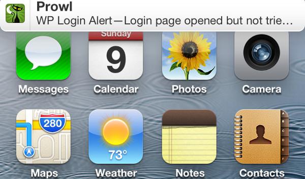 Login Alert Notification