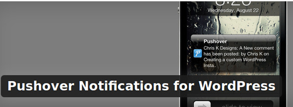 Pushover Notifications for WordPress