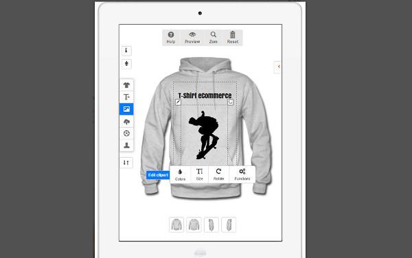 diseñador camisetas woocommerce