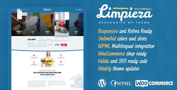 Las mejores plantillas para empresa de limpieza con WordPress