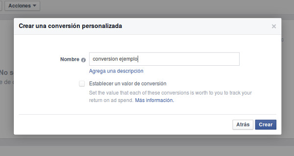 conversion personalizada 2