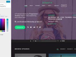 Plantilla profesional para audio y podcast con WordPress