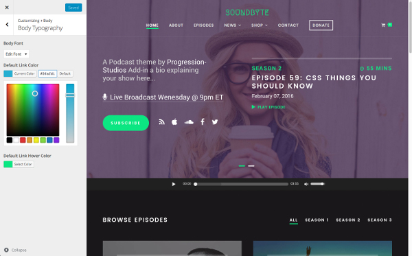 Plantilla profesional para audio y podcast con WordPress