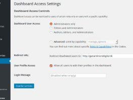 Como quitar el acceso al panel de administración de WordPress