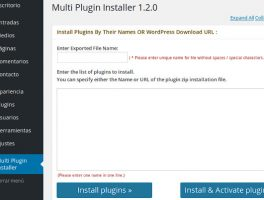Como instalar varios plugins en un solo clic