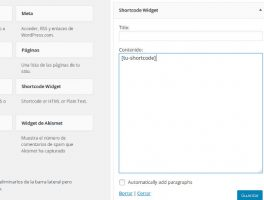 Como utilizar códigos cortos en los widgets de la barra lateral de WordPress